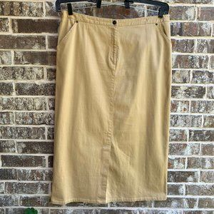 Avenue Women's Stretch Straight Maxi Skirt